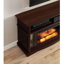 Cherry Finish Better Homes And Gardens Remote Control Ashwood Road Electric Fireplace Media Console For TV's Up To 45