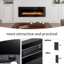 """BOSSIN 50 inch Ultra-Thin and Silence Linear Fireplace, Recessed Electric Fireplace and Wall Mounted & in-Wall Fireplace, Adjustable Flame Colors & Speed,Touch Screen Remote Control with Timer(50"""")"""