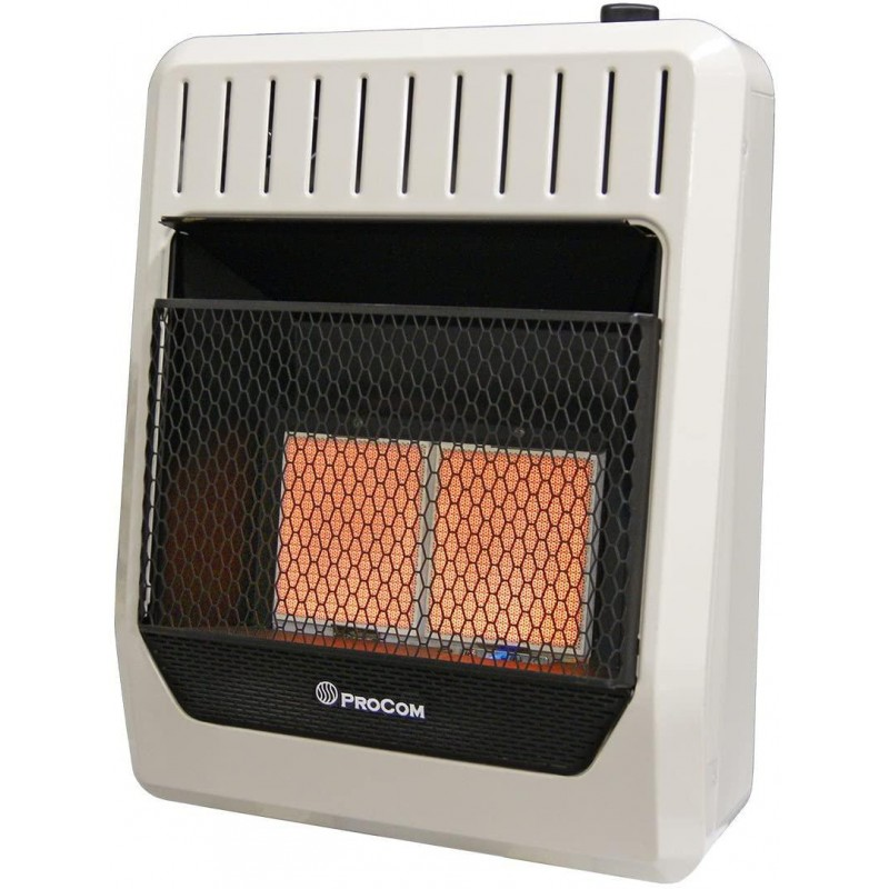 ProCom Dual Fuel Vent Free Infrared Plaque Gas Wall Heater - 1 Each
