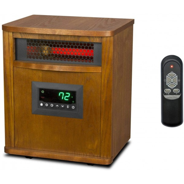 1500W Portable Infrared Quartz Mica Electric Space Heater with Remote Control Dimensions 13 x 10.8 x 16.2 inches Weight 20.6 pounds 12 Hour Programmable Timer